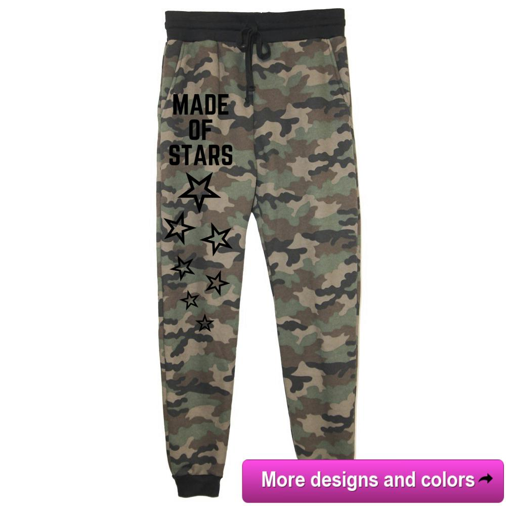 rPet & Organic Cotton Camo Joggers for Women