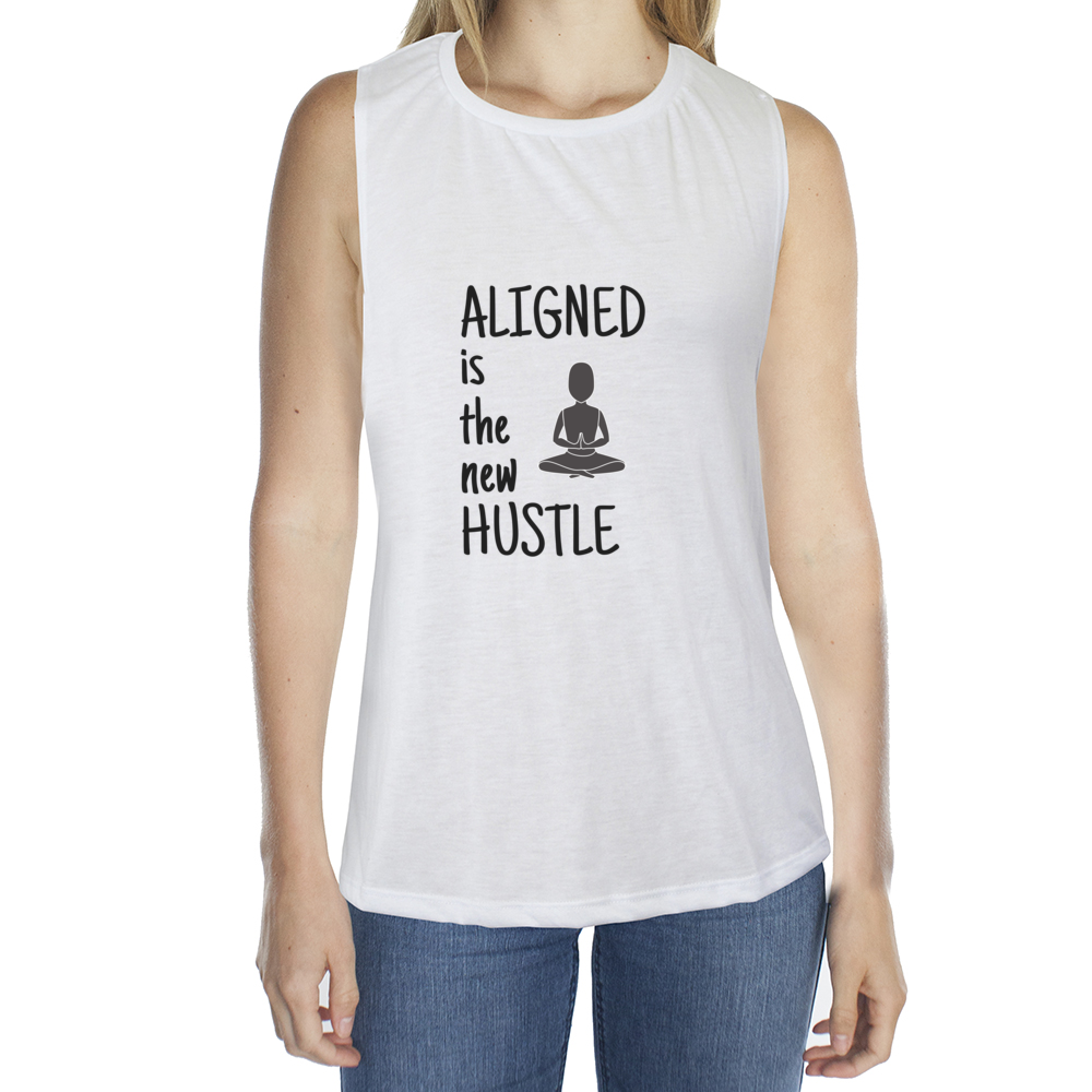 Eco Friendly Muscle Tank Tops for Women | Aligned is the New Hustle-Eco Conscious Clothing