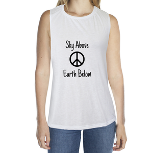 Eco Friendly Muscle Tank Tops for Women | Peace-Eco Conscious Clothing