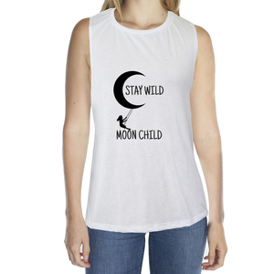 Eco Friendly Muscle Tank Tops for Women | Stay Wild Moon Child-Eco Conscious Clothing