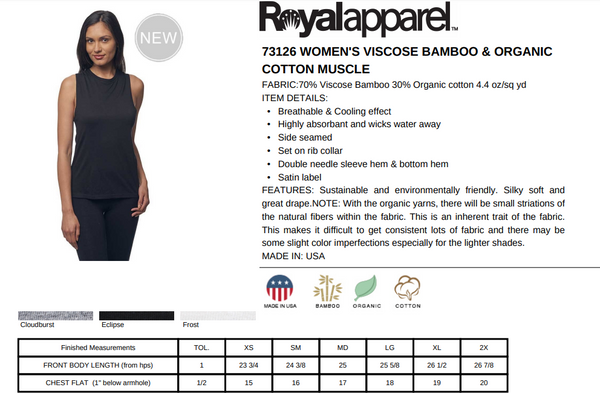 Eco Friendly Muscle Tank Tops for Women | Wednesdays-Eco Conscious Clothing