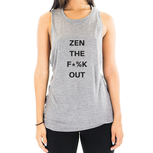 Eco Friendly Muscle Tank Tops for Women | Zen the F$%k Out-Eco Conscious Clothing