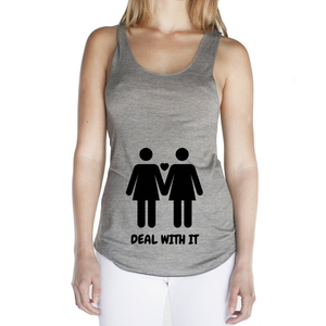 Eco Friendly Racerback Tank Top for Women | Lesbian Pride (BLK)-Eco Conscious Clothing