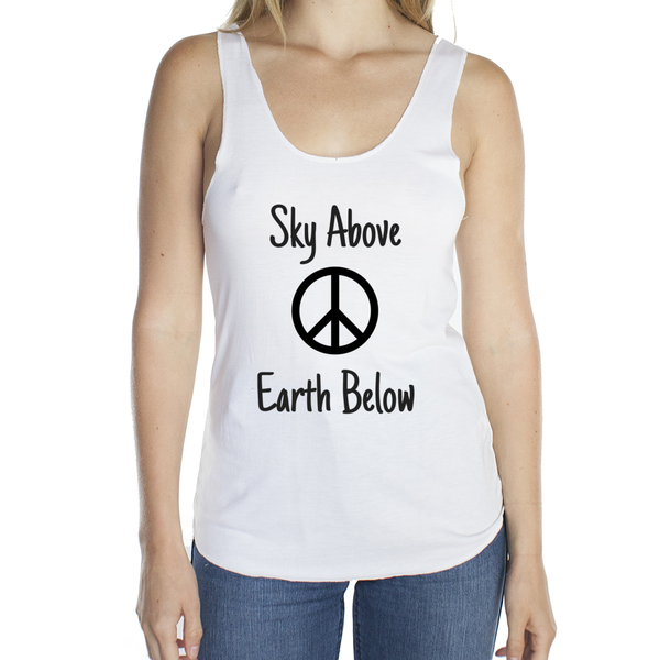Eco Friendly Racerback Tank Top for Women | Peace-Eco Conscious Clothing