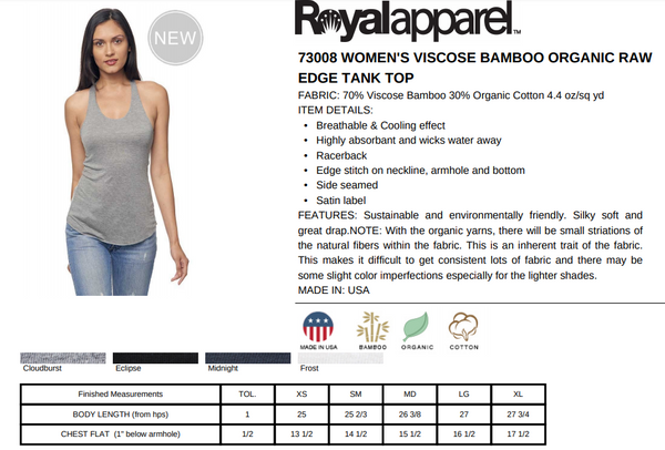 Eco Friendly Racerback Tank Top for Women | Wednesdays-Eco Conscious Clothing