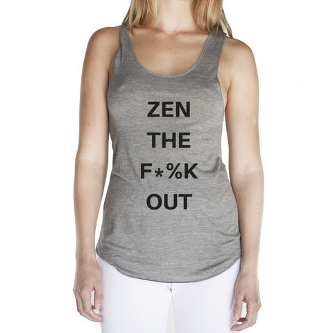 Eco Friendly Racerback Tank Top for Women | Zen the F*%k Out-Eco Conscious Clothing