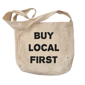 Eco Friendly Reusable Shopping Bags | Buy Local First-Eco Conscious Clothing