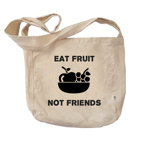 Eco Friendly Reusable Shopping Bags | Eat Fruit not Friends-Eco Conscious Clothing