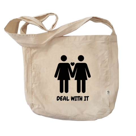 Eco Friendly Reusable Shopping Bags | Lesbian Pride (BLK)-Eco Conscious Clothing
