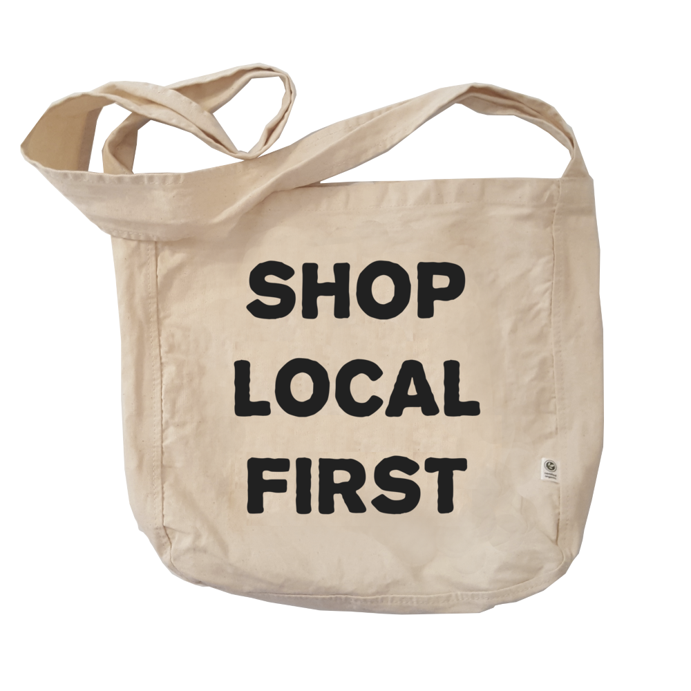 Eco Friendly Reusable Shopping Bags | Shop Local First-Eco Conscious Clothing