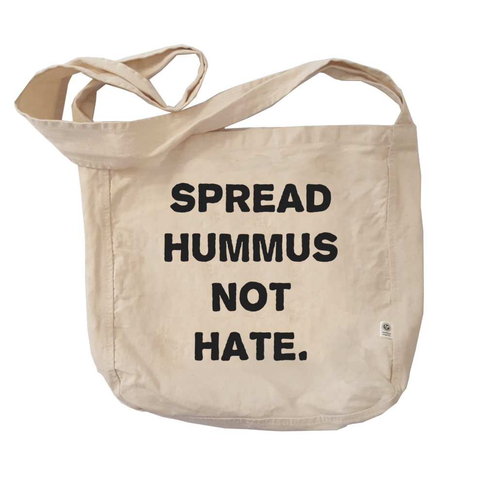 Eco Friendly Reusable Shopping Bags | Spread Hummus Not Hate-Eco Conscious Clothing