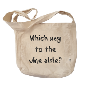 Eco Friendly Reusable Shopping Bags | Which Way to the Wine Aisle-Eco Conscious Clothing