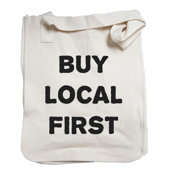 Environmentally Conscious Canvas Tote Bags | Buy Local First-Eco Conscious Clothing