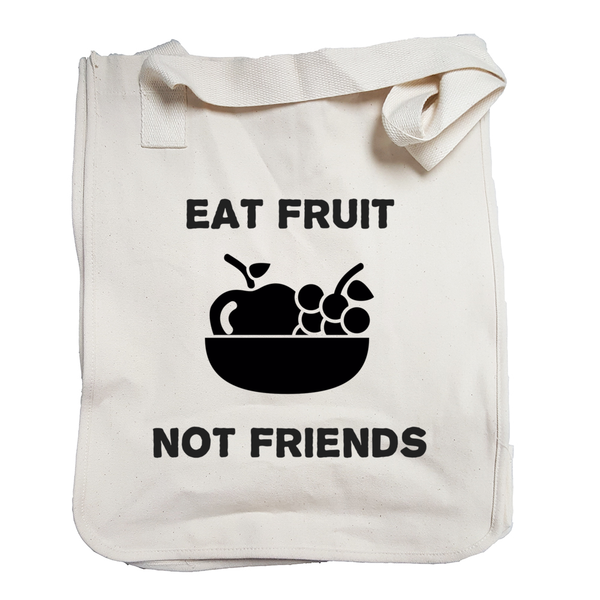 Environmentally Conscious Canvas Tote Bags | Eat Fruit not Friends-Eco Conscious Clothing
