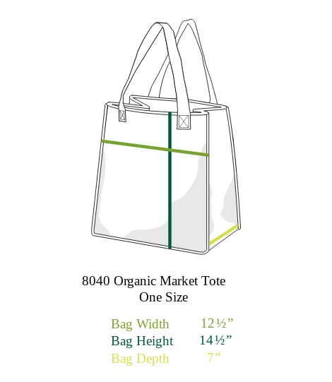 Environmentally Conscious Canvas Tote Bags | Farmer's Market-Eco Conscious Clothing