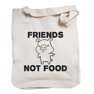Environmentally Conscious Canvas Tote Bags | Friends not Food-Eco Conscious Clothing