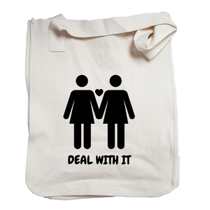 Environmentally Conscious Canvas Tote Bags | Lesbian Pride (BLK)-Eco Conscious Clothing