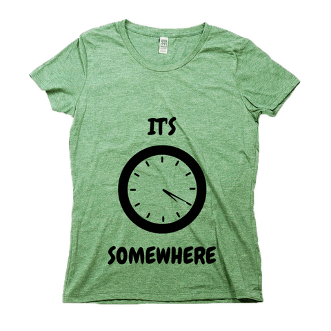 Organic Cotton Graphic Tees for Women | It's 420 Somewhere (analog)-Eco Conscious Clothing