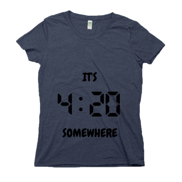 Organic Cotton Graphic Tees for Women | It's 420 Somewhere (digital)-Eco Conscious Clothing