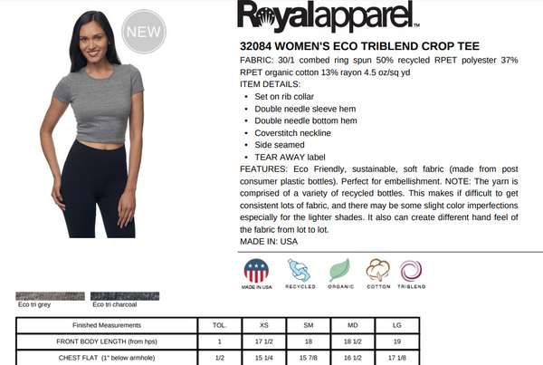 rPet & Organic Cotton Graphic Crop Top | I Like the Cut of Your Jib
