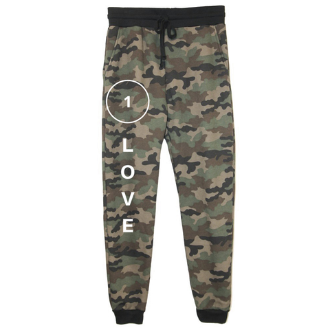 rPet & Organic Cotton Camo Joggers for Women | 1 Love-Eco Conscious Clothing