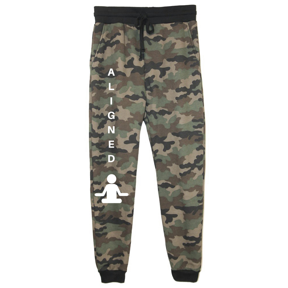 rPet & Organic Cotton Camo Joggers for Women | Aligned-Eco Conscious Clothing