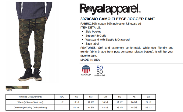rPet & Organic Cotton Camo Joggers for Women | GRL PWR-Eco Conscious Clothing