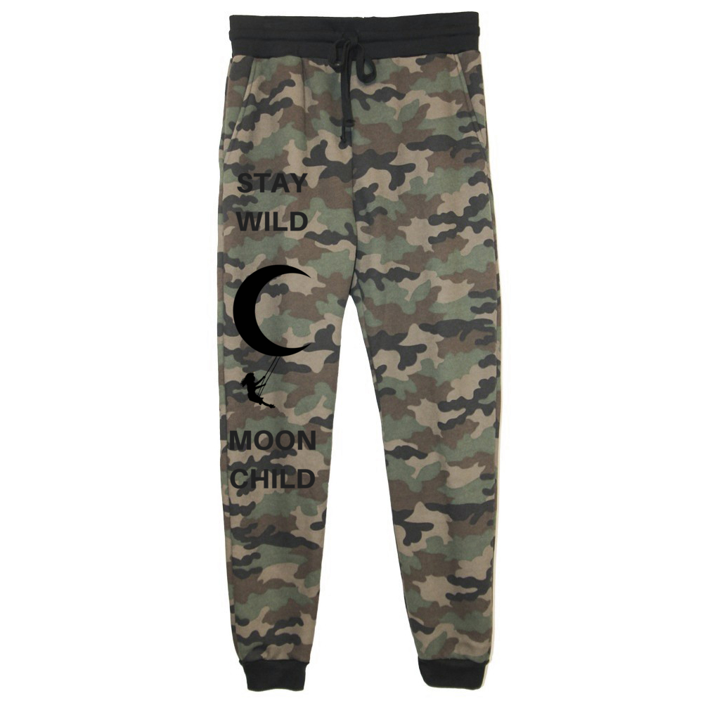 rPet & Organic Cotton Camo Joggers for Women | Stay Wild Moon Child-Eco Conscious Clothing