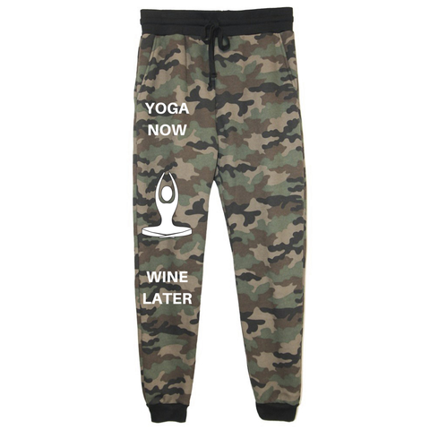 rPet & Organic Cotton Camo Joggers for Women | Yoga Now-Eco Conscious Clothing