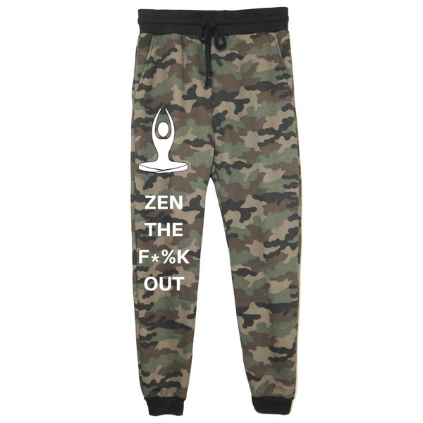 rPet & Organic Cotton Camo Joggers for Women | Zen the F*%k Out-Eco Conscious Clothing