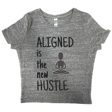 rPet & Organic Cotton Graphic Crop Top | Aligned is the New Hustle-Eco Conscious Clothing