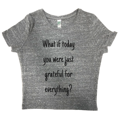 rPet & Organic Cotton Graphic Crop Top | Grateful-Eco Conscious Clothing