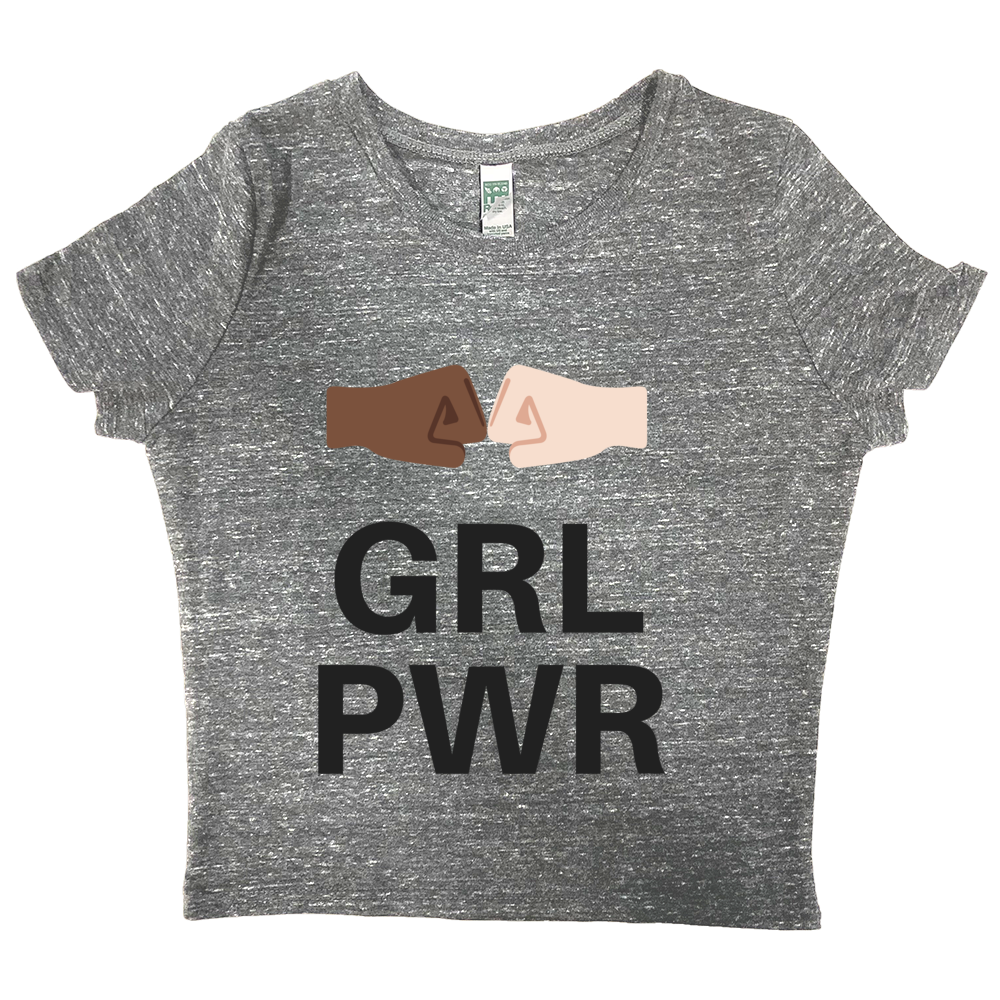 rPet & Organic Cotton Graphic Crop Top | GRL PWR-Eco Conscious Clothing