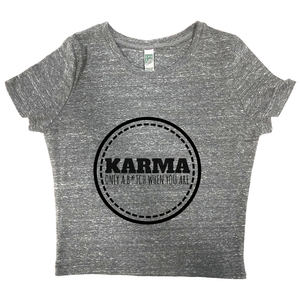 rPet & Organic Cotton Graphic Crop Top | Karma-Eco Conscious Clothing