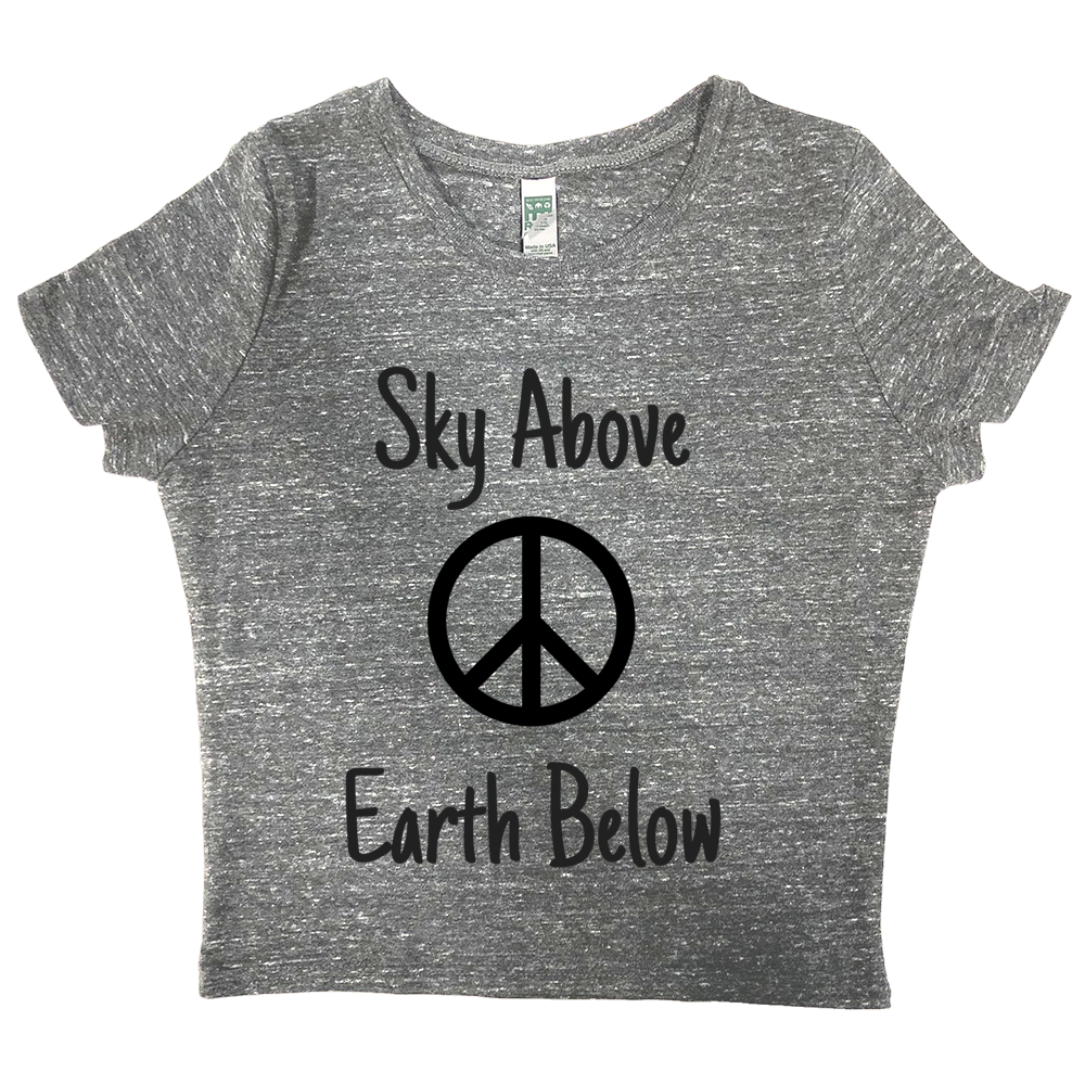 rPet & Organic Cotton Graphic Crop Top | Peace-Eco Conscious Clothing