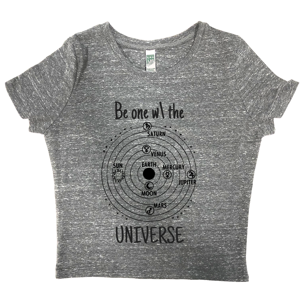 rPet & Organic Cotton Graphic Crop Top | Universe-Eco Conscious Clothing