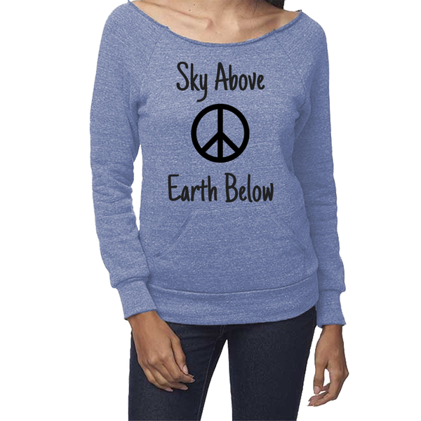rPet & Organic Cotton Graphic Sweatshirts for Women | Peace-Eco Conscious Clothing