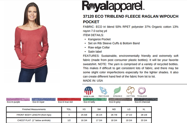 rPet & Organic Cotton Graphic Sweatshirts for Women | Top Knot-Eco Conscious Clothing