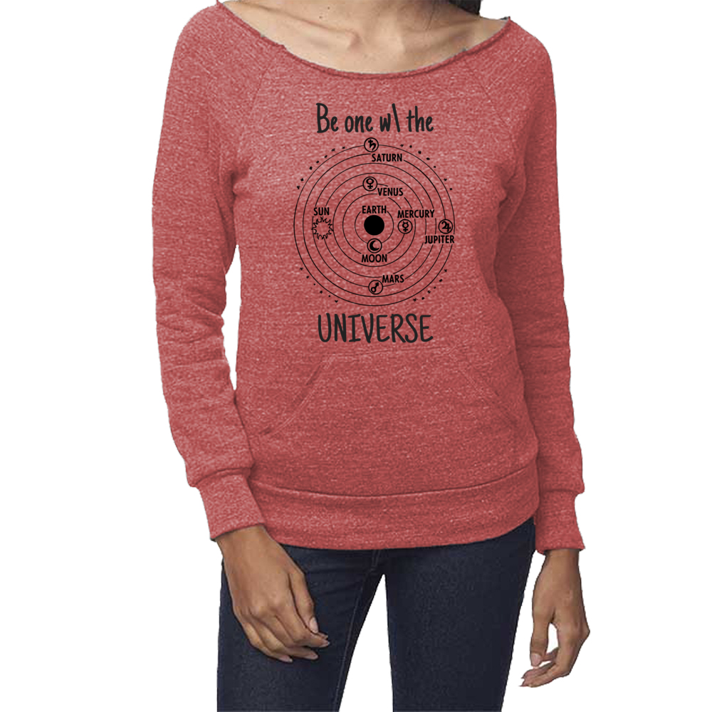 rPet & Organic Cotton Graphic Sweatshirts for Women | Universe-Eco Conscious Clothing
