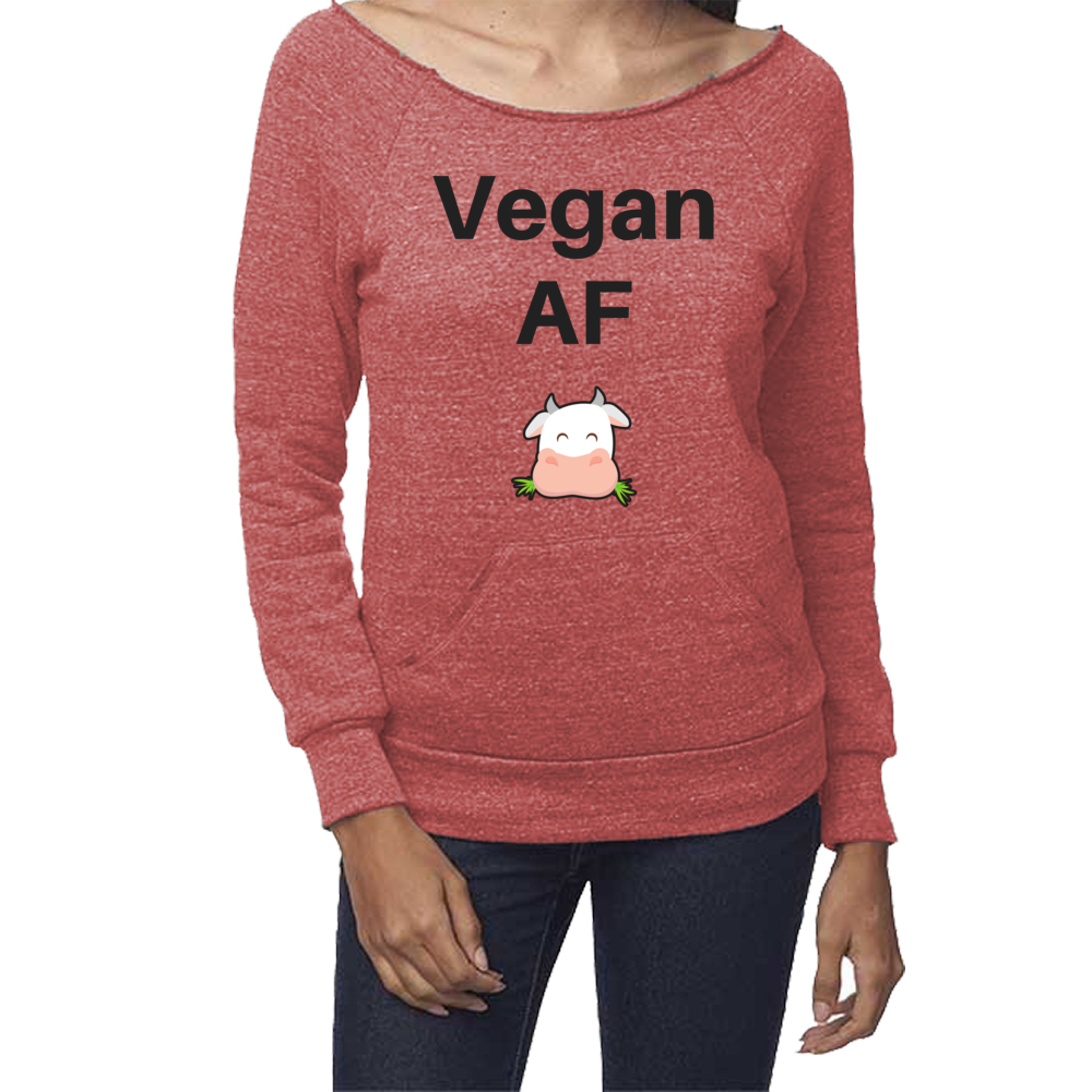 rPet & Organic Cotton Graphic Sweatshirts for Women | Vegan AF-Eco Conscious Clothing