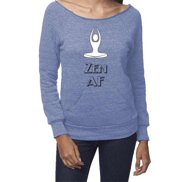 rPet & Organic Cotton Graphic Sweatshirts for Women | Zen AF-Eco Conscious Clothing