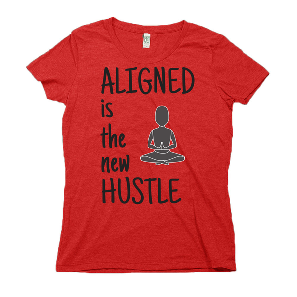 rPet & Organic Cotton Graphic Tees for Women | Aligned is the New Hustle-Eco Conscious Clothing