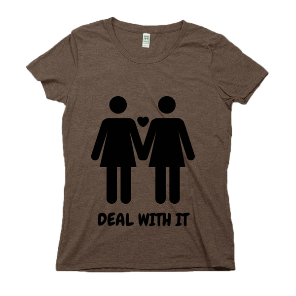 rPet & Organic Cotton Graphic Tees for Women | Lesbian Pride (BLK)-Eco Conscious Clothing
