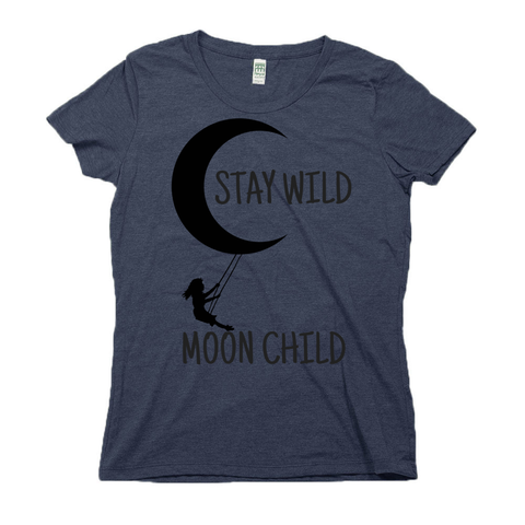 rPet & Organic Cotton Graphic Tees for Women | Stay Wild Moon Child-Eco Conscious Clothing