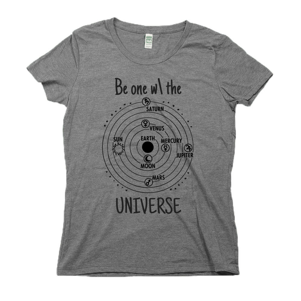rPet & Organic Cotton Graphic Tees for Women | Universe-Eco Conscious Clothing