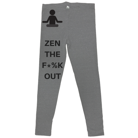 rPet & Organic Cotton Leggings for Women | Zen the F*%k Out-Eco Conscious Clothing