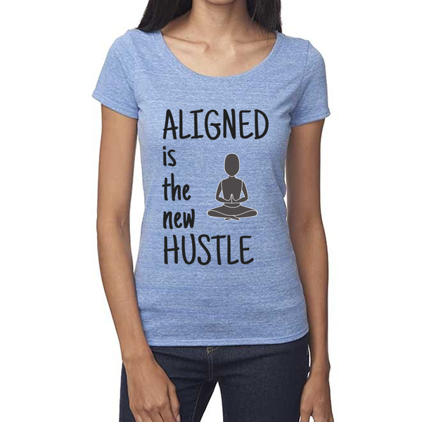 rPet & Organic Cotton Scoop Neck Tee | Aligned is the New Hustle-Eco Conscious Clothing