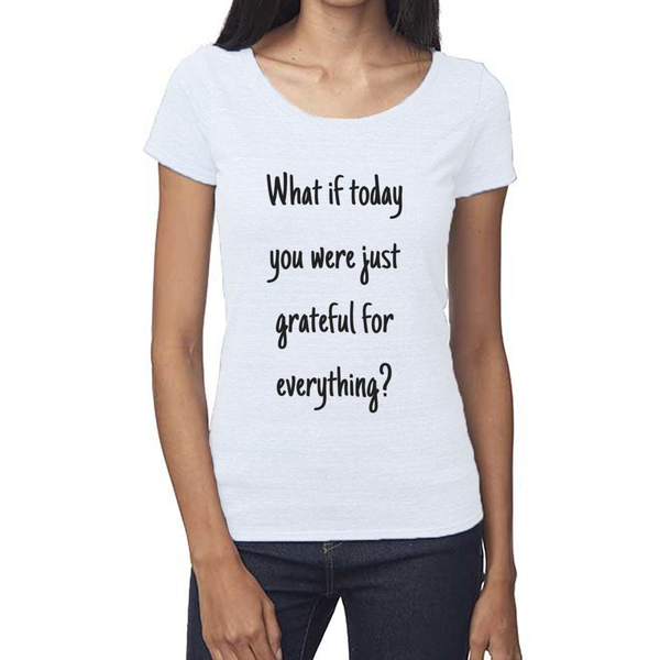 rPet & Organic Cotton Scoop Neck Tee | Grateful-Eco Conscious Clothing
