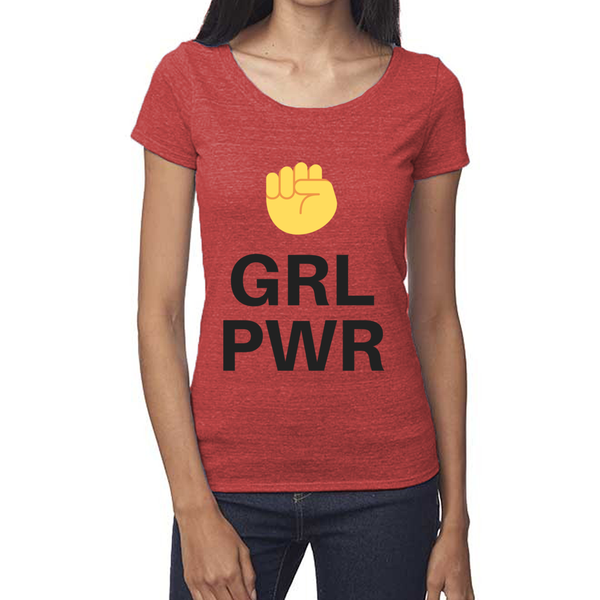 rPet & Organic Cotton Scoop Neck Tee | GRL PWR-Eco Conscious Clothing