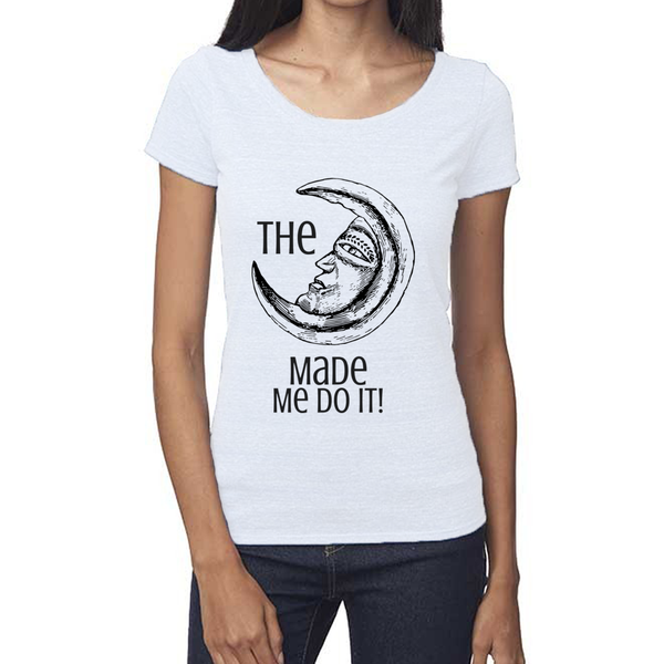 rPet & Organic Cotton Scoop Neck Tee | Moon Made Me Do It-Eco Conscious Clothing